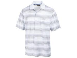 Greg Norman Mens Roadmap Performance Rugby Polo Shirt brightwhite S