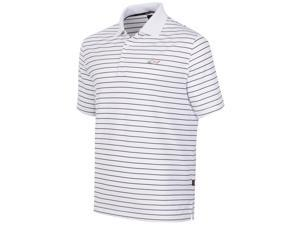 Greg Norman Mens 5 Iron Performance Rugby Polo Shirt brightwhite S