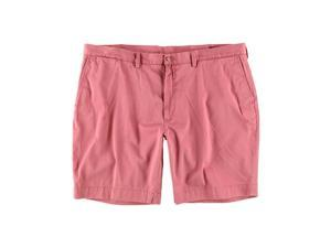 Ralph Lauren Mens Flat-Front Casual Chino Shorts pink 42
