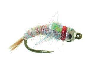 Umpqua Tungsten Surveyor Rainbow Fly Fishing Size 18 - 4 Pack