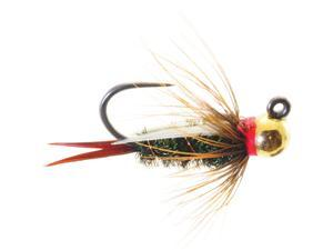 Umpqua Jigged Prince Tungsten Gold Bead Fly Fishing Size 10 - 12 Pack