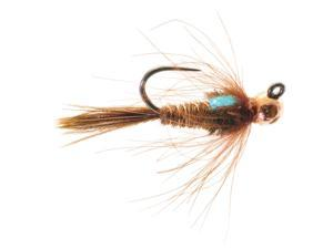 Umpqua Jigged Pheasant Tail Tungsten Copper Bead Fly Fishing Size 14 - 12 Pack