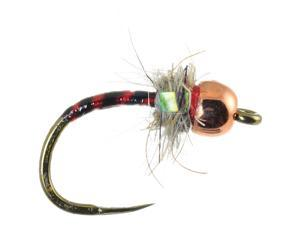 Umpqua ICU Midge (Tungsten) Red Fly Fishing Size 14 - 12 Pack