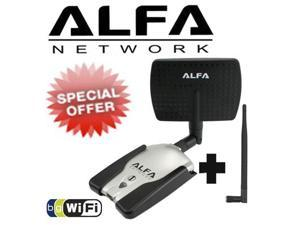 ALFA AWUS036H 802.11g High Power Wireless USB WiFi Adapter 1000mW with 5 dBi and 7dBi Indoor Panel Antenna 1000mW