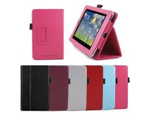 GMYLE Hot Pink Leather Slim Fit Folio Flip over Magnetic Case Cover with Stand Holder with Wake Up Sleep Function for ASUS ...