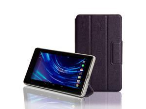 GMYLE (TM) Deep Purple PU Leather Magnetic Slim Fit Folding Folio Flip Case Cover Stand with Wake-Up Sleep function for ASUS ...