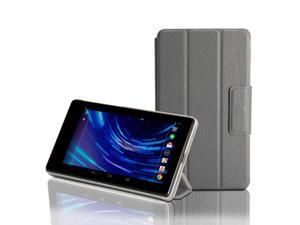 GMYLE (TM) Grey PU Leather Magnetic Slim Fit Folding Folio Flip Case Cover Stand with Wake-Up Sleep function for ASUS Google ...