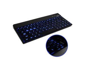 GMYLE Black Slim Aluminum Backlit 10 inch Bluetooth 3.0 LED Wireless Keyboard