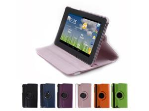 GMYLE Pink 360 Degree Rotating Swivel Leather Flip Folio Magnetic Smart Case Pouch Cover with Stand Holder with Wake Up Sleep ...