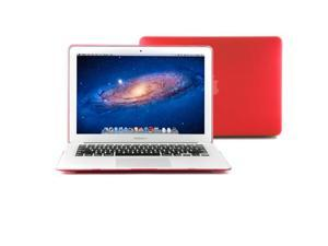 GMYLE Red Rubberized Coating See-through Hard Shell Case Cover Perfect fit for 13 inch Macbook Air