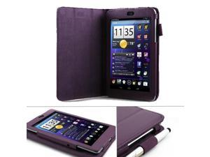 GMYLE Purple PU Leather Folding Folio Flip Multi Angle Case Cover Stand with Magnetic Wake-Up Sleep function for ASUS Google ...
