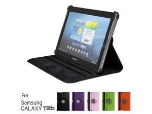 "GMYLE Black 360 Degree Rotating PU leather Folio Stand Case Cover for tablet Galaxy Tab 1 2 10.1"" P7510 P5100 With Vertical ..."