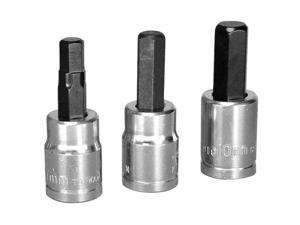 "K Tool 27902 Brake Caliper Hex Bit Set, 3 Piece, 3/8"" Drive, with 7mm, 8mm, 10mm Hex Bits"