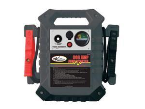 "K Tool 74306 Battery Jump Starter, 660 Amp/1700 Peak Amp, with 74"" Long Cables, 1000 Amp Clamps, 12 Volt Outlet"