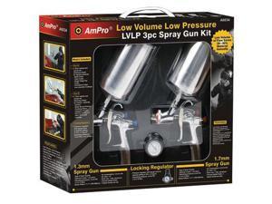 Ampro A6034 3pc L.V.L.P. Spray Gun Set