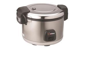 Winco Rice 60 Cups Cooker w/Warmer Hinged Cover