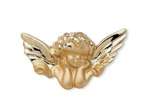PalmBeach Jewelry Guardian Angel Pin in Yellow Gold Tone