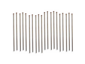 Vintaj Natural Brass Head Pins 24 Gauge 1.5 Inch (20)