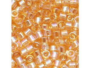 Miyuki Delica Seed Beads 10/0 Lt Amber AB Dbm0100 8 Gr