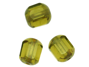 Czech Glass Cathedral Window Beads 8mm 'Olivine' (12)