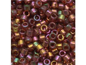 Miyuki Delica Seed Bead 10/0 Gold Red Luster Dbm0103 8G