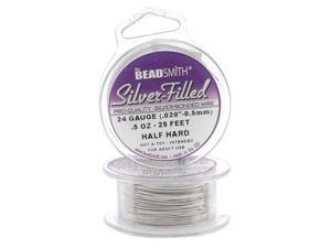 Silver Filled Wire - 24 Gauge Round Half Hard - 0.5oz (25 Feet)