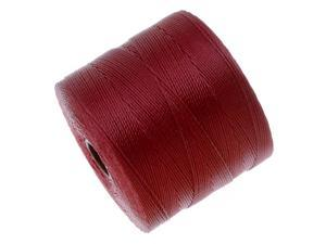 Beadsmith S-Lon Micro Macrame Twisted Nylon Cord - Scarlet Red / 287 Yard Spool