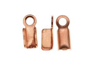 Real Copper Foldover 3mm Cord Ends For Leather (50)