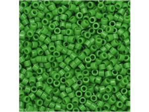 Miyuki Delica Seed Beads, 11/0 Size, 7.2 Gms, #724 Opaque Pea Green