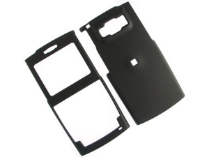 Rubberized Plastic Proguard Case Black For Samsung ACE i325