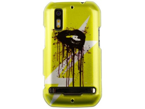 Hard Polycarbonate Plastic Two-Piece Snap-On Phone Protector Case Cover Shell with Cool Stylish Yellow Lip Image Design for ...