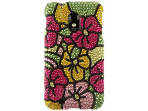 Hard Diamond Design Phone Protector Case Cover Hawaii Flower For Samsung Epic Touch
