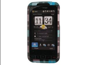Hard Plastic Phone Design Case Cover Blue Checkers For HTC Imagio XV6975