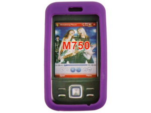 One Piece Silicone Skin Purple Phone Protector Case For Huawei M750