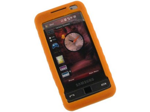 Silicone Soft Gel Flexible Skin Phone Protector Orange For Samsung Omnia i910
