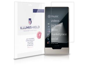 iLLumiShield - Microsoft Zune HD Crystal Clear Screen Protectors with Anti-Bubble/Anti-Fingerprint - 3-Pack + Lifetime Replacements