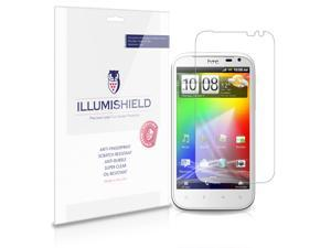 iLLumiShield - HTC Sensation XL Crystal Clear Screen Protectors with Anti-Bubble/Anti-Fingerprint - 3-Pack + Lifetime Replacements