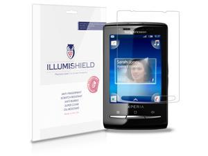 iLLumiShield - Sony Ericsson Xperia x10 Mini Crystal Clear Screen Protectors with Anti-Bubble/Anti-Fingerprint - 3-Pack + ...