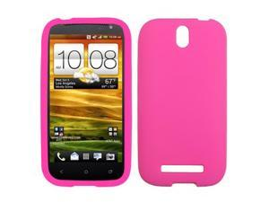 Hot Pink Silicone Gel Skin Phone Case Protector for HTC One SV