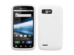 White Silicone Gel Skin Phone Case Protector for Motorola ATRIX 2 MB865