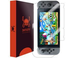 Nintendo Switch Screen Protector + Full Body , Skinomi? TechSkin Full Coverage Skin + Screen Protector for Nintendo Switch Front & Back Clear HD Film