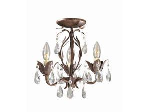 3 Lt. Semi Flush Chandelier