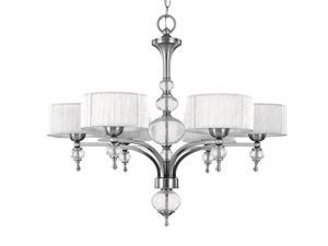 World Imports 8246-37 Bayonne Clct 6-Lgt Chandelier, Brush Nickel