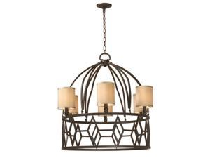 World Imports 3516-42 Decatur Clct 6-Lgt Chandelier, Rust
