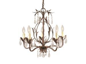 World Imports 81025-62 Berkley Square 5-Lgt Chandelier, Weathered Bronze