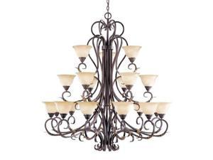 World Imports 2620-24 Olympus Tradition 21-Lgt Chandelier, Crackled Bronze/Silver