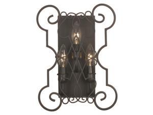 World Imports 7513-42 Alistar Clct 3-Lgt Iron Wall Sconce, Rust