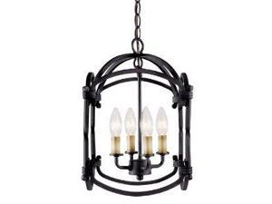 World Imports 61406-42 Hastings 4-Lgt Foyer Lantern, Rust