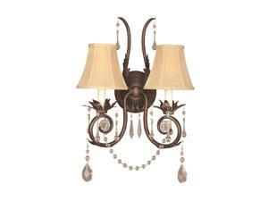 World Imports 755-62 Berkeley Square 2-Lgt Wall Sconce, Weathered Bronze