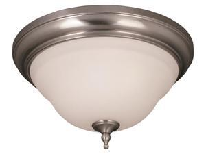 World Imports 8387-02 Montpelier 3-Lgt Flush Mount Ceiling Lgt, Satin Nickel